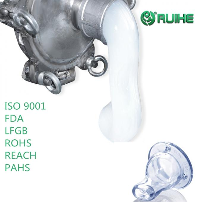 Food Grade Injection Liquid Silicone Rubber Hardness 50 Shore A High Transparent Baby Feeder Nipple 0
