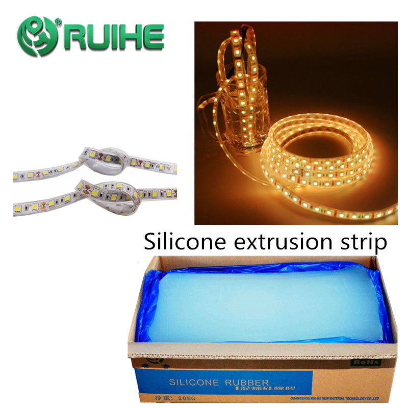 Custom Extruded Silicone Rubber Material High Strength For Sealant Parts