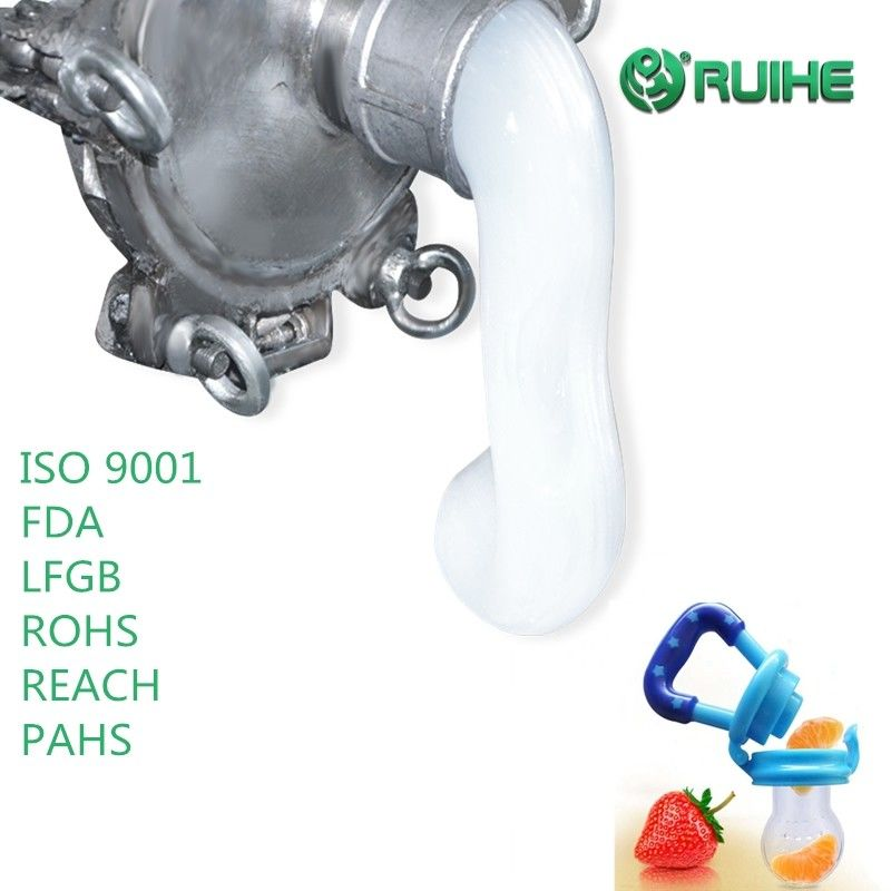 Low Shrinkage Food Grade 500% Pacifier Clear Silicone Rubber